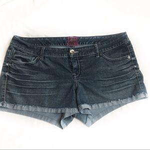 Torrid Denim Jean Shorts Cut Offs Plus Size 22/24